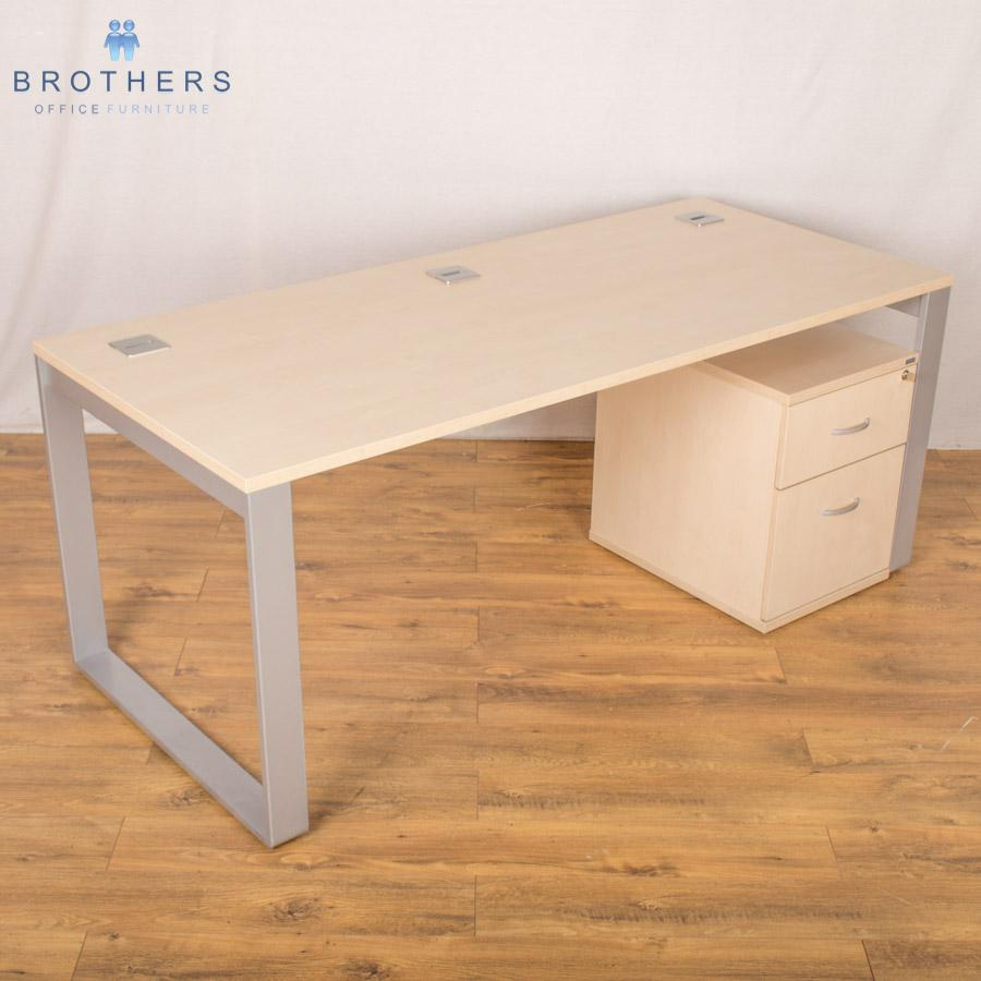 Balma Maple Single Bench Desks