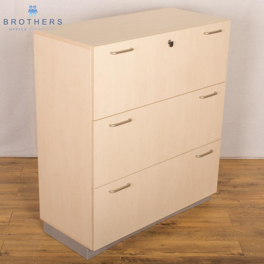 Used Balma Maple 3 Drawer Lateral Filer