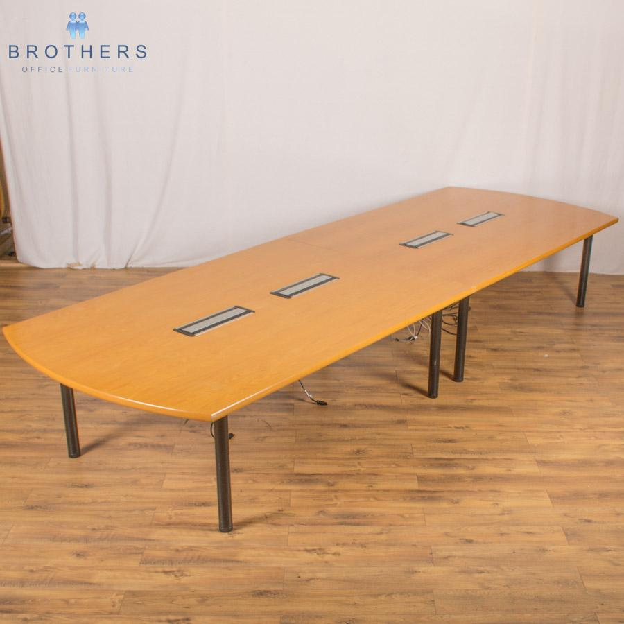 Oak Veneer 4500x1500 Boardroom Table