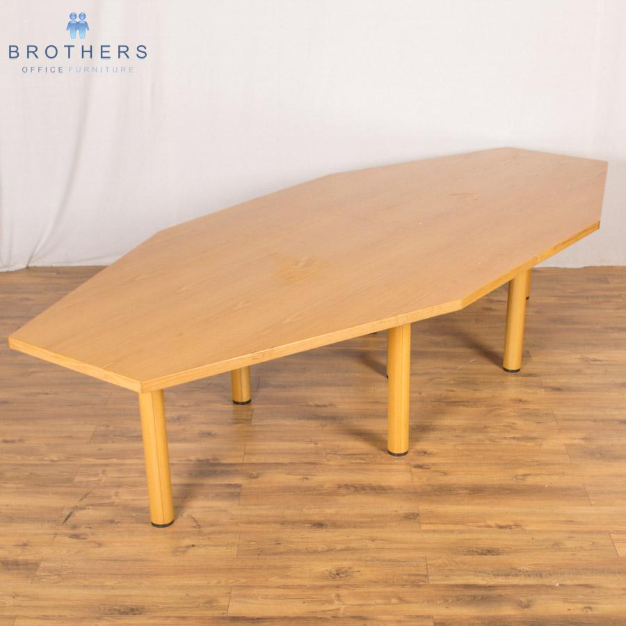 Oak Veneer 4450x1450 Boardroom Table
