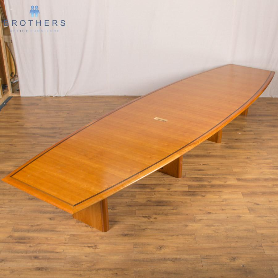 Inlay Cherry Veneer 5300x1450 Boardroom Table