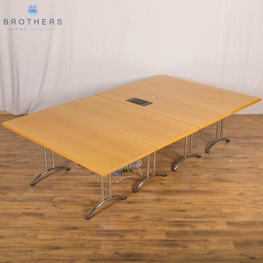 Maple Veneer 3000x1800 Sectional Table
