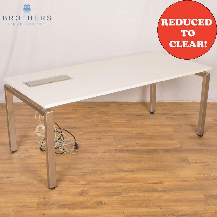 White 1800x800 Bench Table