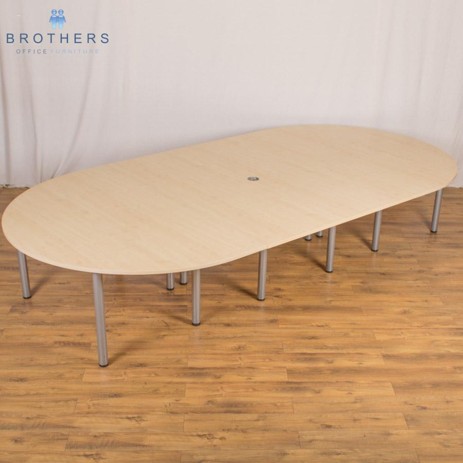 Maple 4000x2000 Sectional Boardroom Table