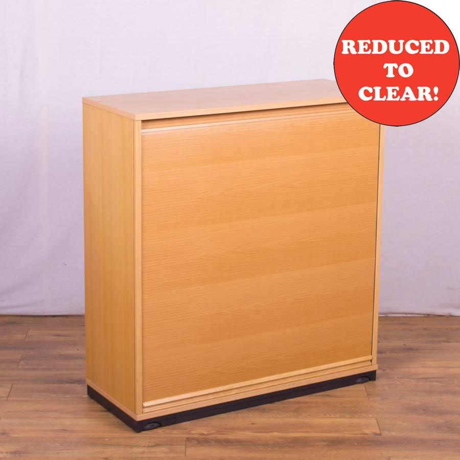 Kinnarps Maple Veneer 1080H Tambour Cupboard