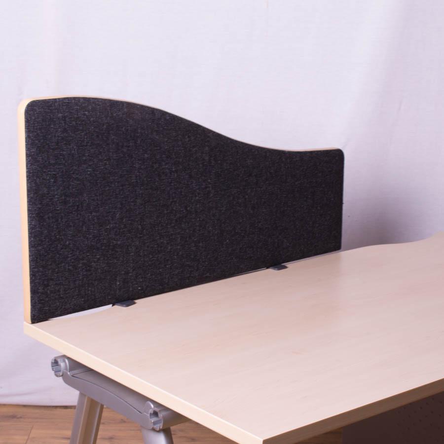 Dams Charcoal 1200 Wave Desk Divider