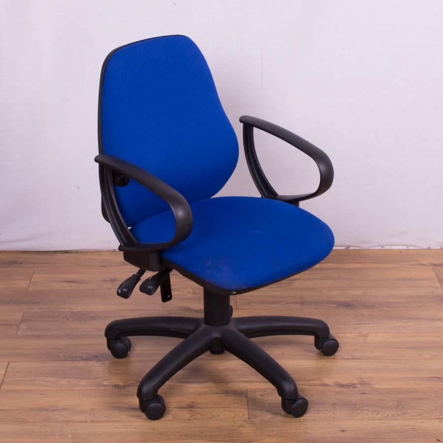 Blue 2 Lever Office Chair with Lumbar Pump