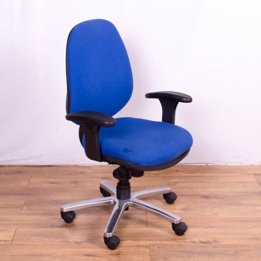 Blue 3 Lever Office Chair with Adjustable Arms