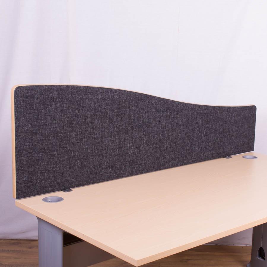 Dams Charcoal 1600 Wave Desk Divider