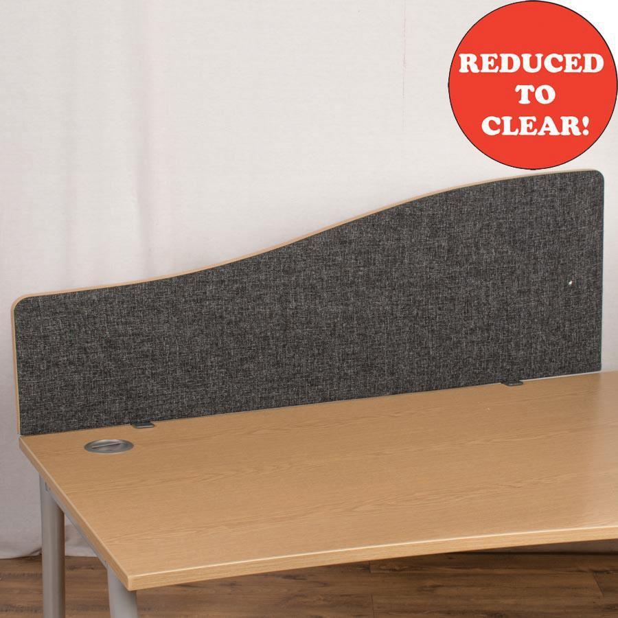Dams Charcoal 1400 Wave Desk Divider