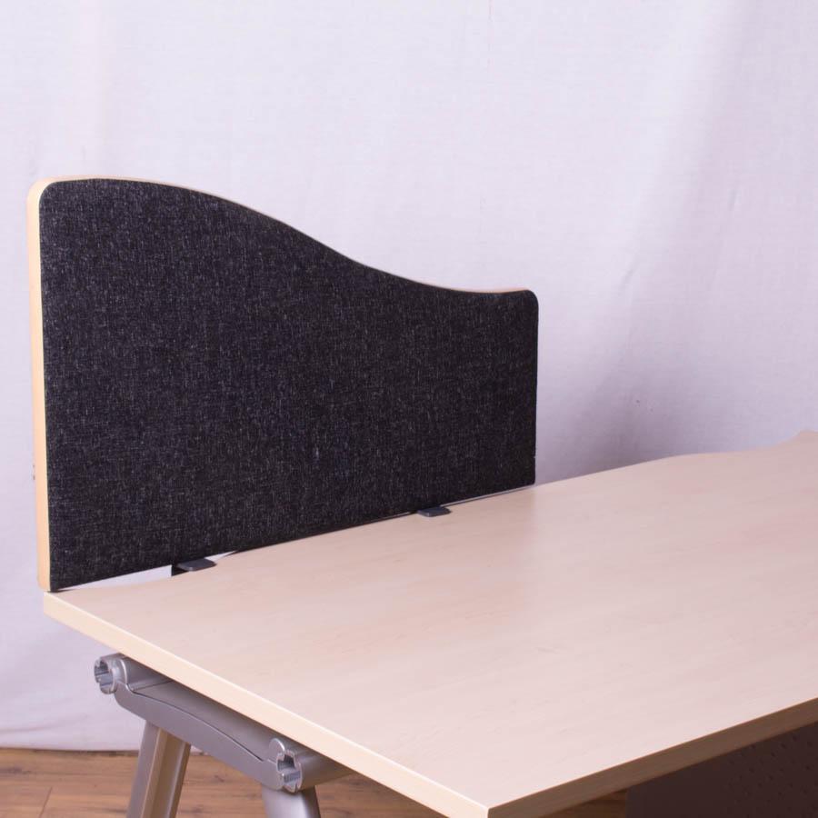Dams Charcoal 800 Wave Desk Divider