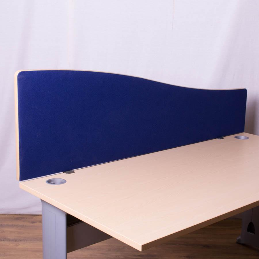 Dark Blue 1600 Wave Desk Screen