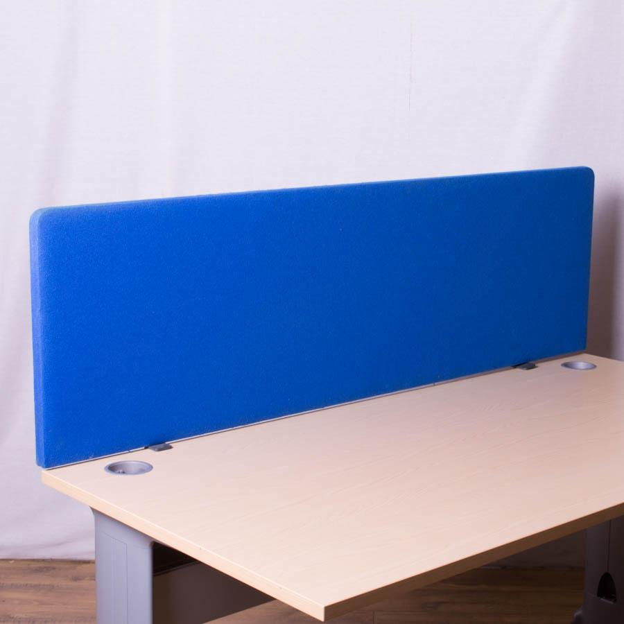 Blue 1600 Straight Desk Dividing Screen