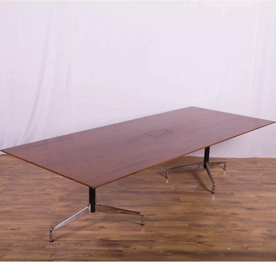 Vitra Eames Dark Walnut 3000x1200 Boardroom Table