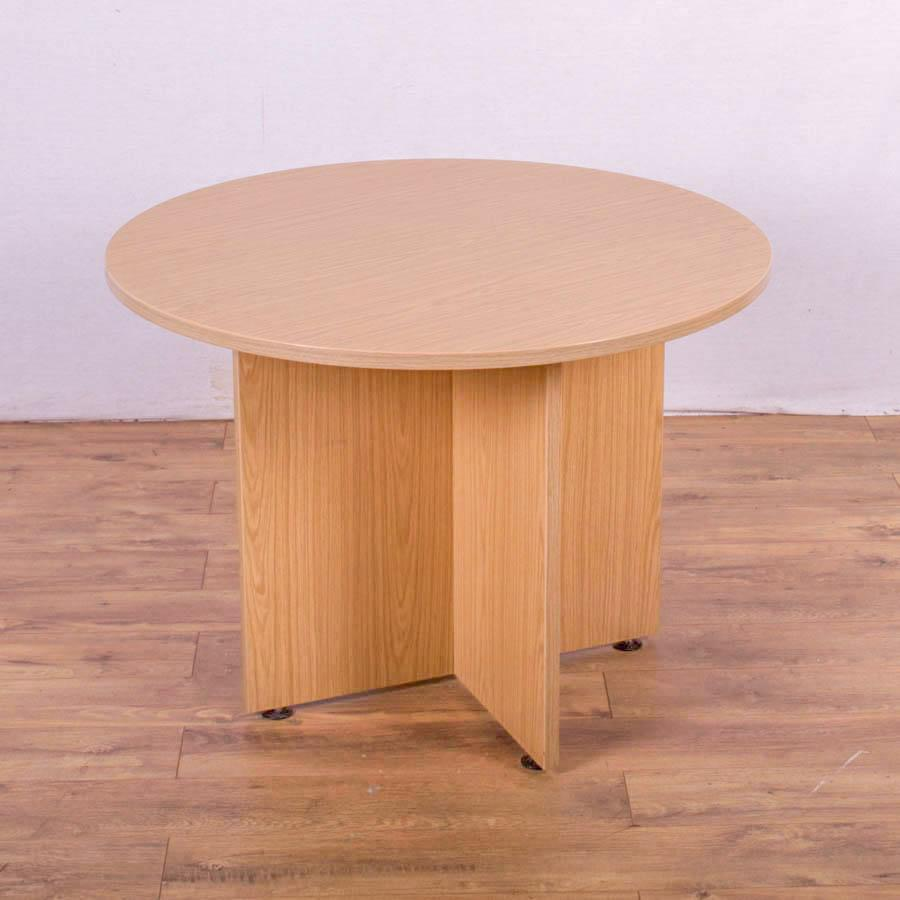 Sven Bureau Oak 1000D Round Office Table