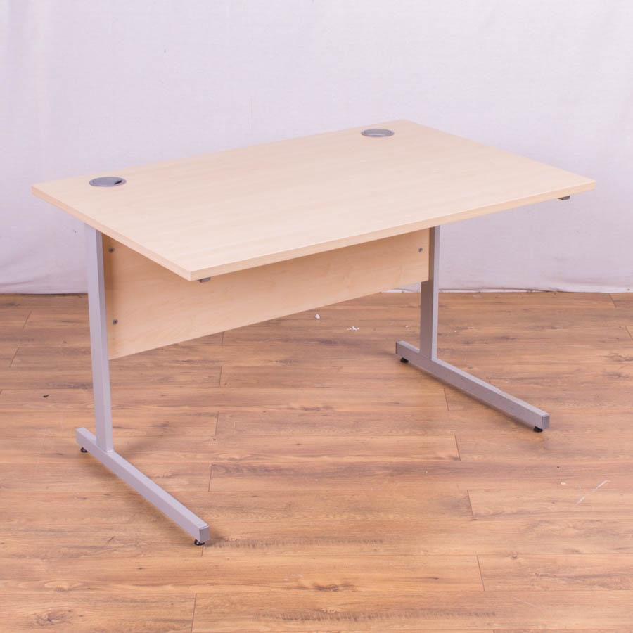 Maple 1200x800 Straight Office Desk