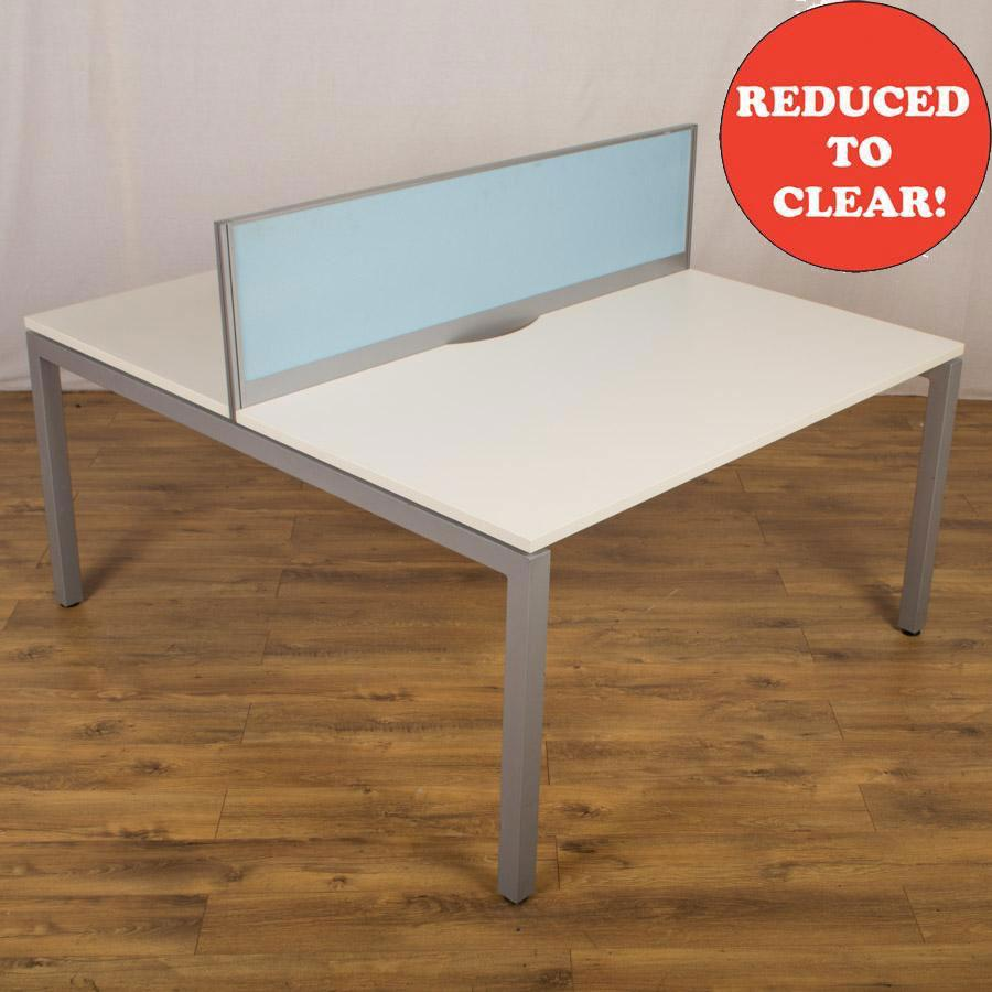White 1400x800 Bench Desks