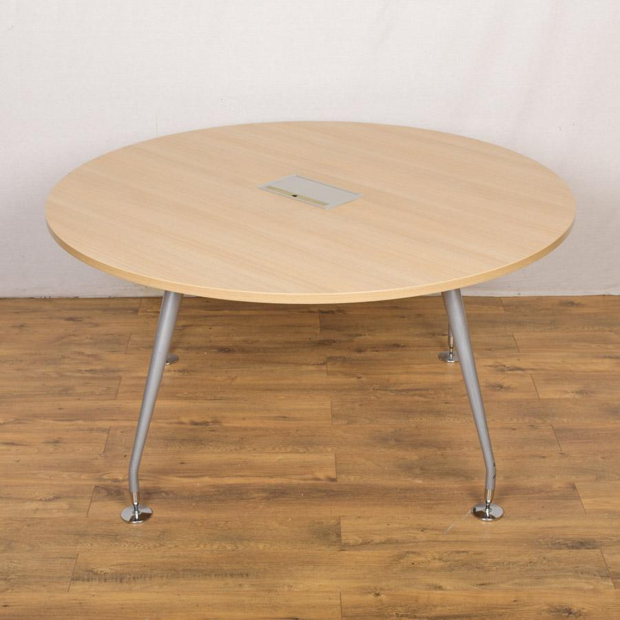 Mobili Sand Zebrano 1400D Round Office Table