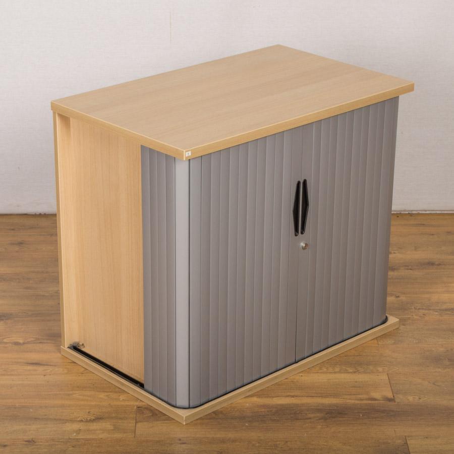 Mobili Sand Zebrano 720H Tambour Cupboard