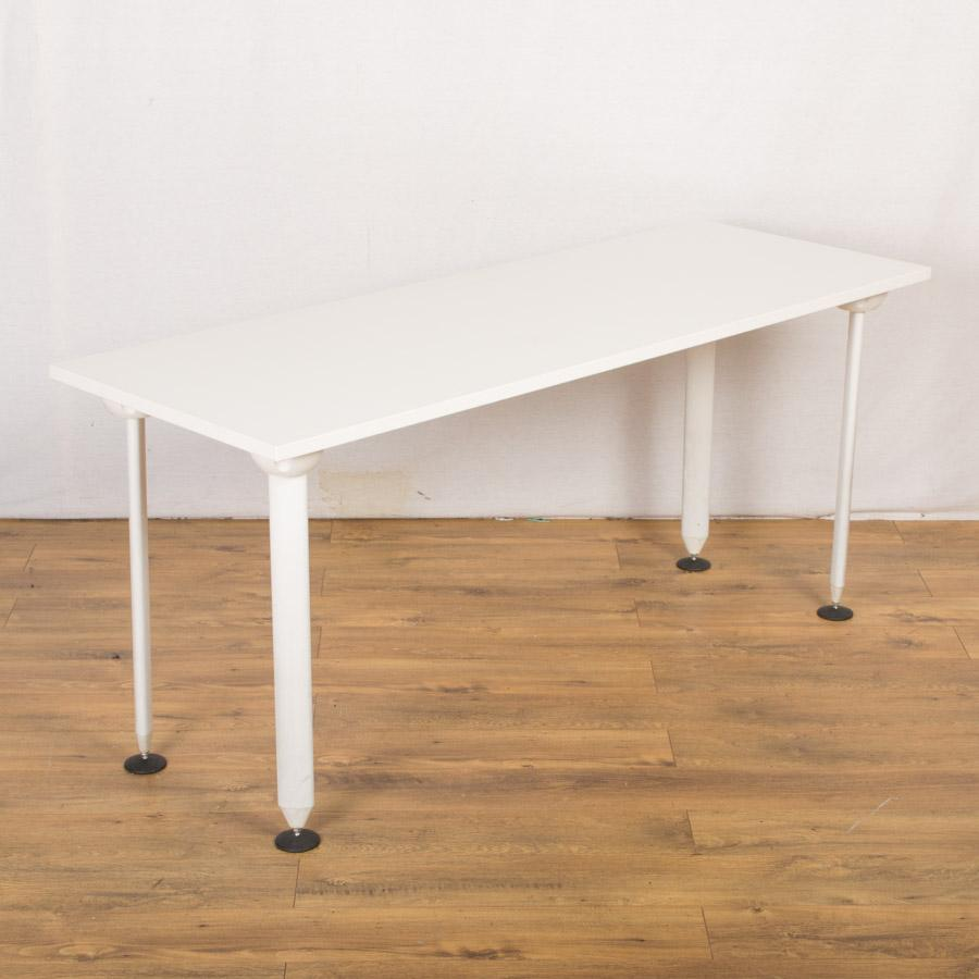 White 1640x600 Office Training Tables