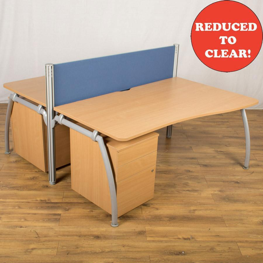 Senator Intrigue Beech Wave Bench Desks