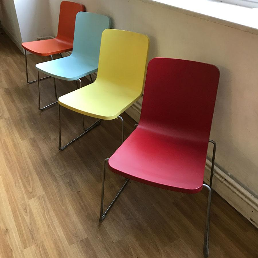 Poly Coloured Hard Wearing Cafe Chair