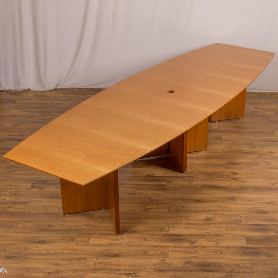 Cherry Veneer 3800x1200 Boardroom Table