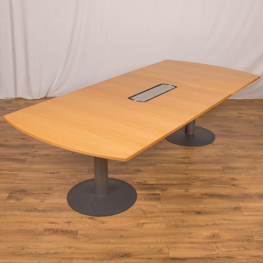 Kinnarps Oak Veneer 2600x1200 Boardroom Table