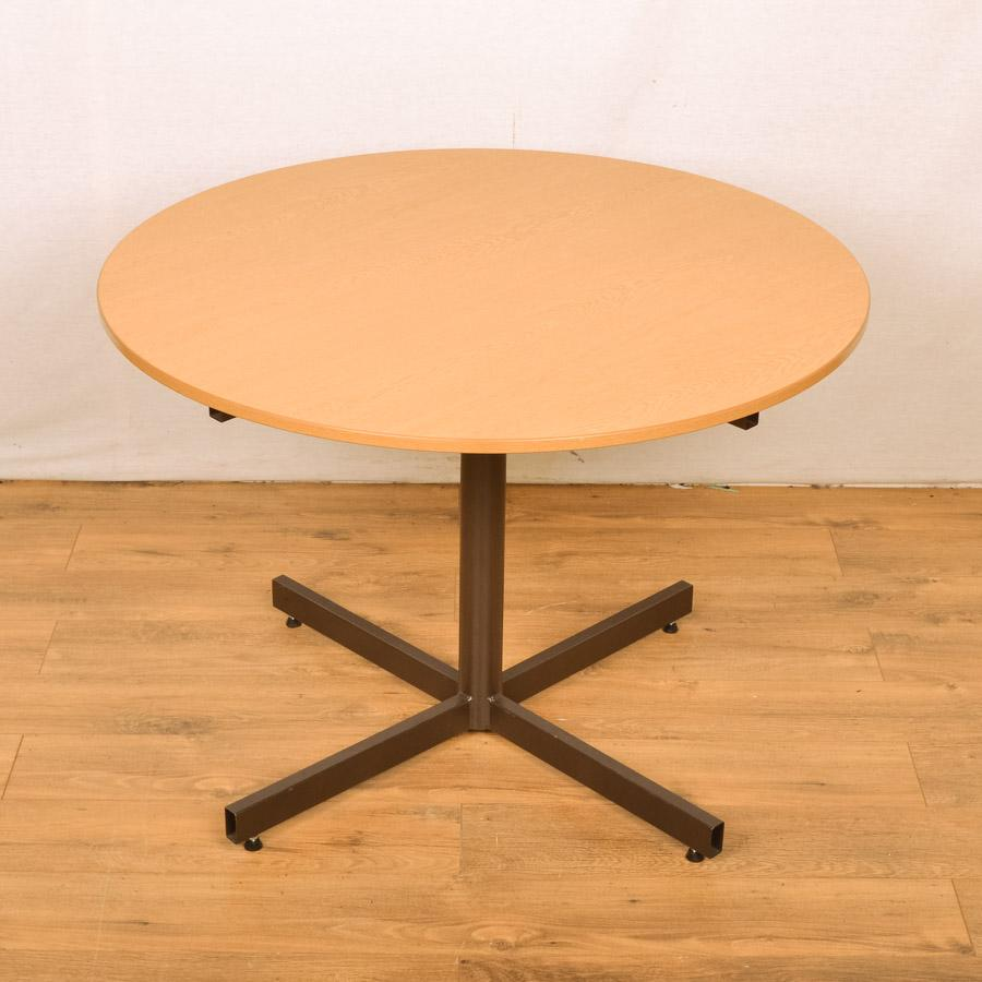 Grained Oak 1000D Round Office Table