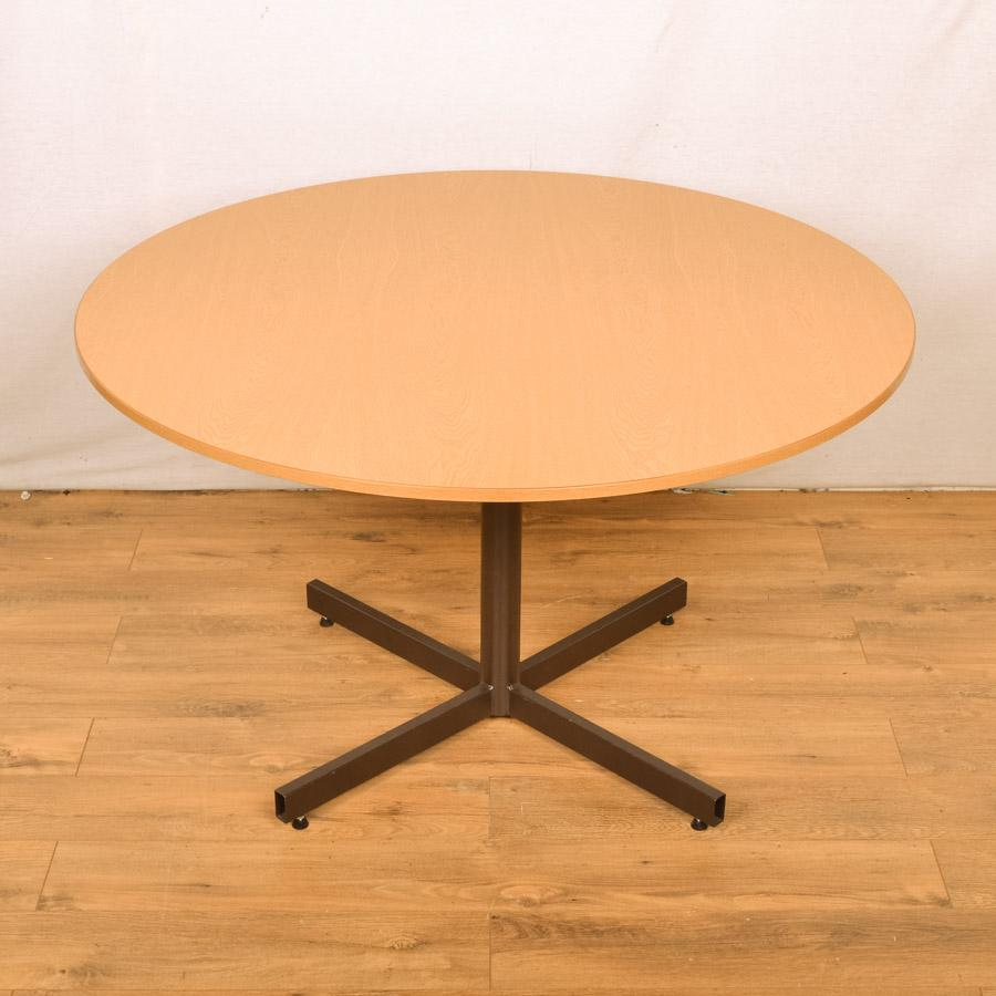 Grained Oak 1200D Round Office Table