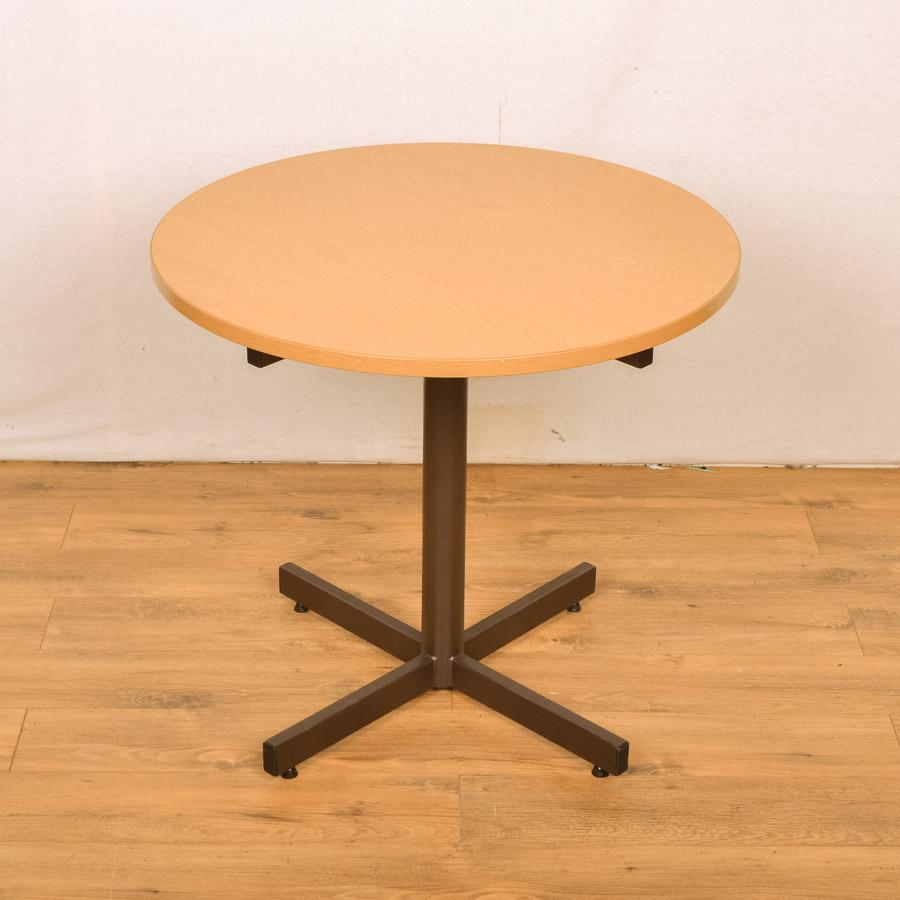 Grained Oak 800D Round Office Table