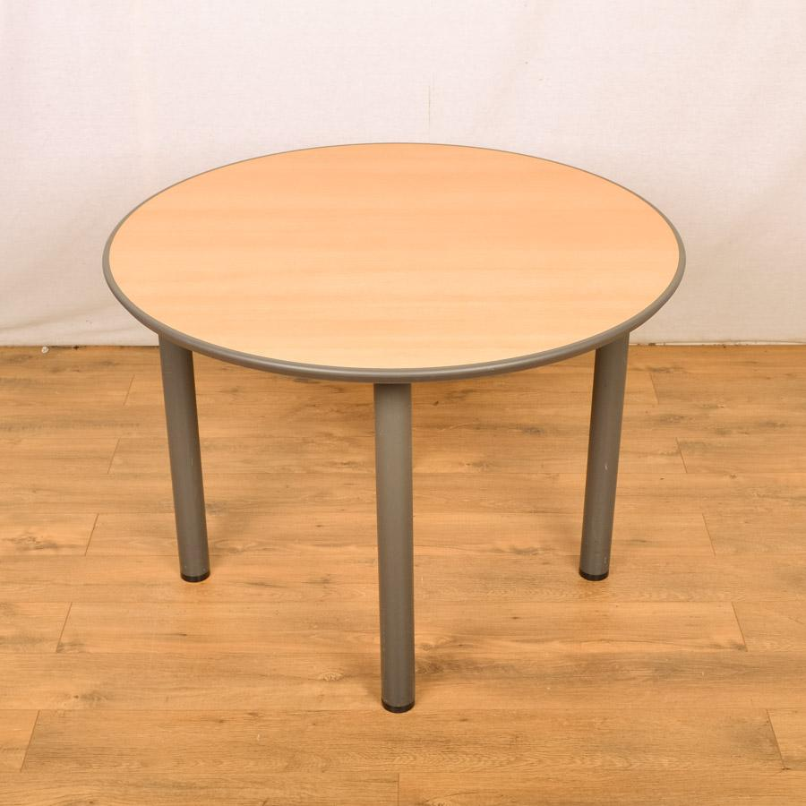 Sven Beech 1000D Round Office Table