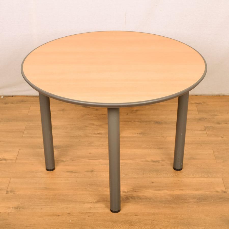 sven beech 1200d round office table