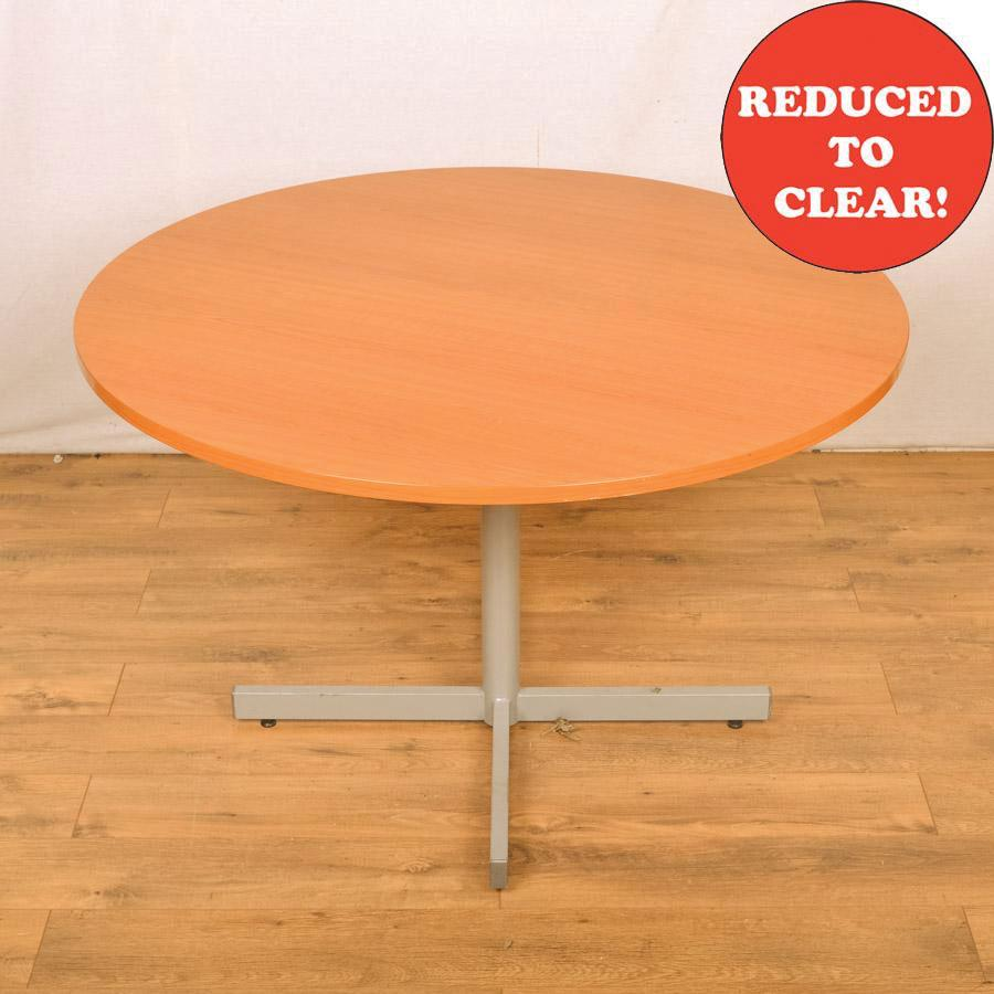 Cherry 1200D Round Table - Cross Base