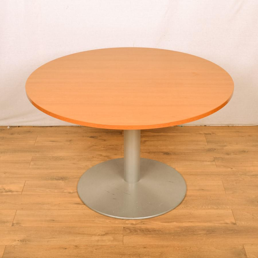 Cherry 1200D Round Table - Column Base