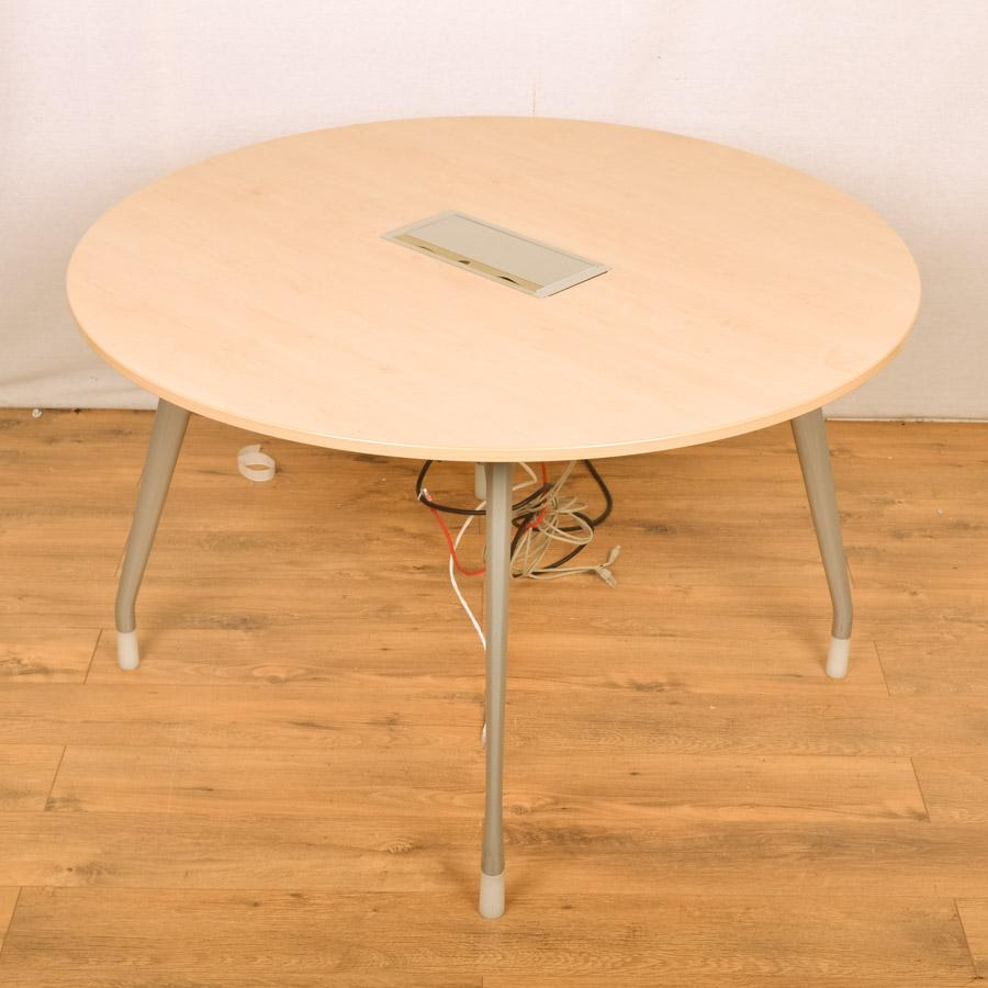 Herman Miller Maple 1200 Round Office Table