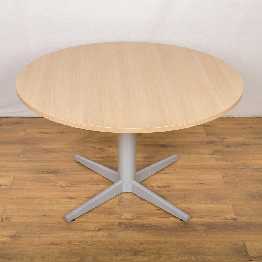 Mobili Sand Zebrano 1200D Round Office Table