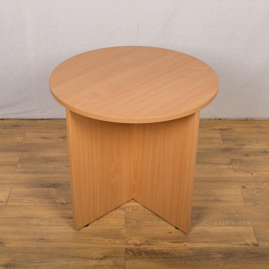 Beech 800D Round Table - Cross Base