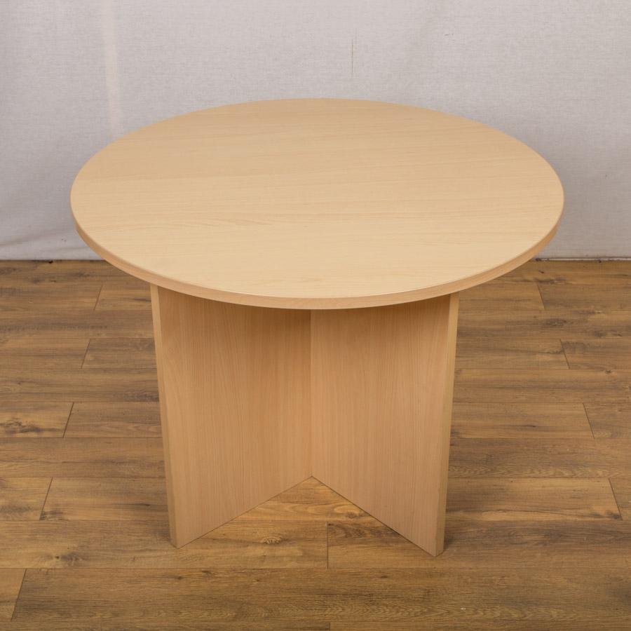 Beech (Light) 1000D Round Office Table (RT62)