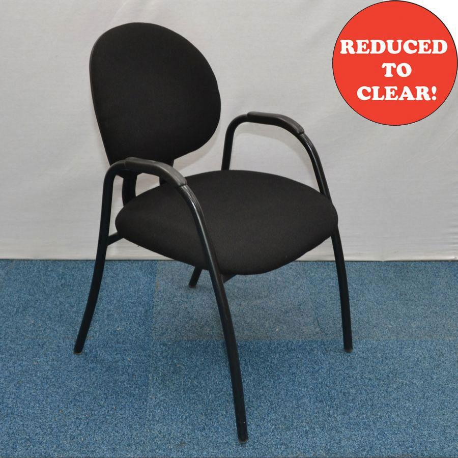 Steelcase Criterion Black Fabric Meeting Chair
