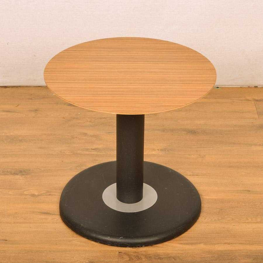 Walnut 600D Low Round Office Table (RT31)