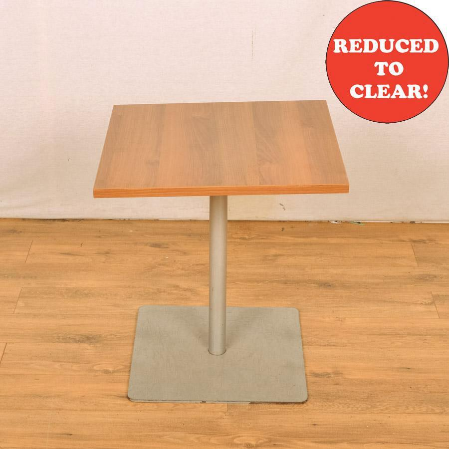 Walnut 600x600 Low Square Office Table (RT33)