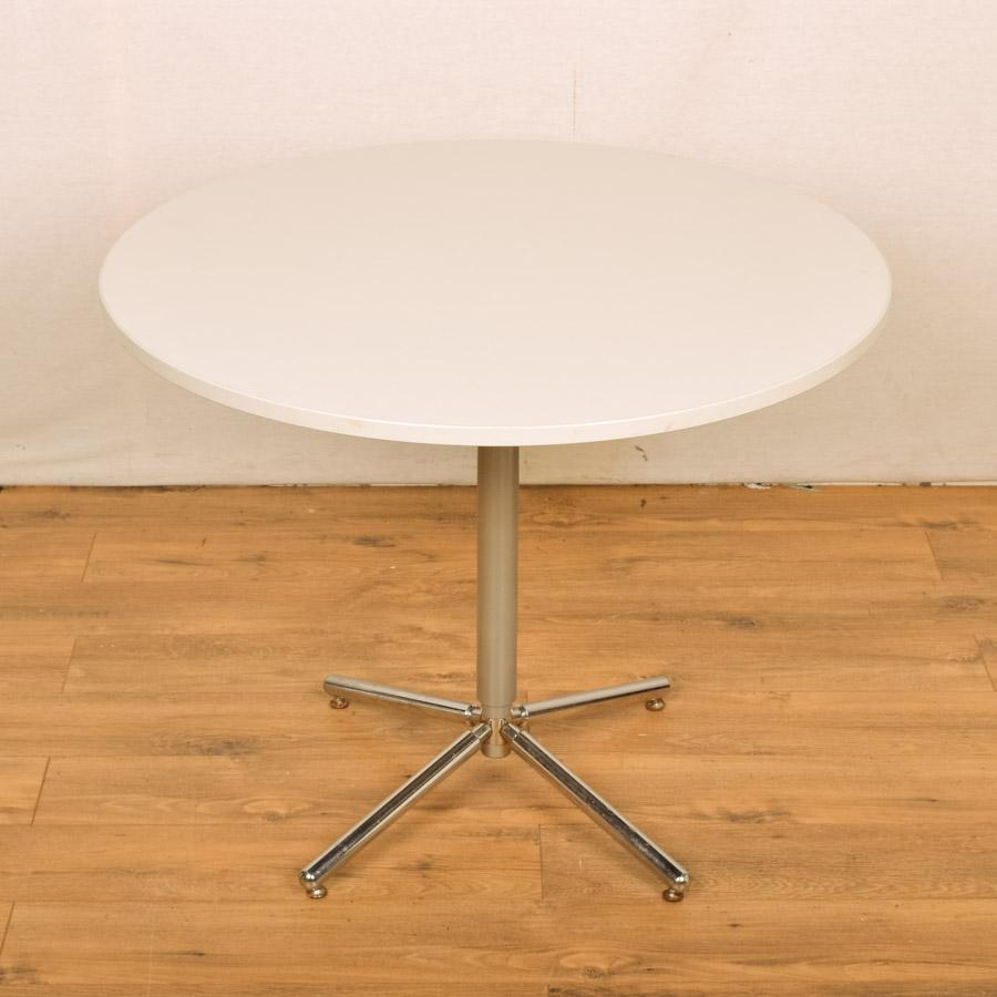 Kinnarps Light Grey 900D Round Office Table (RT38)