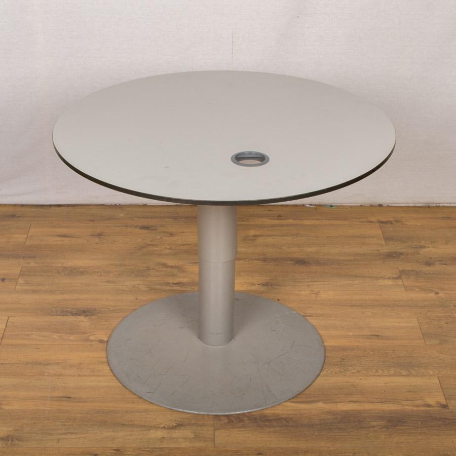 Light Grey 900D Round Office Table (RT43)