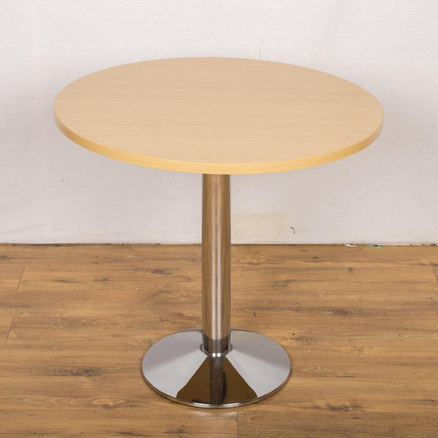 Light Oak 800D Round Office Table (RT49)