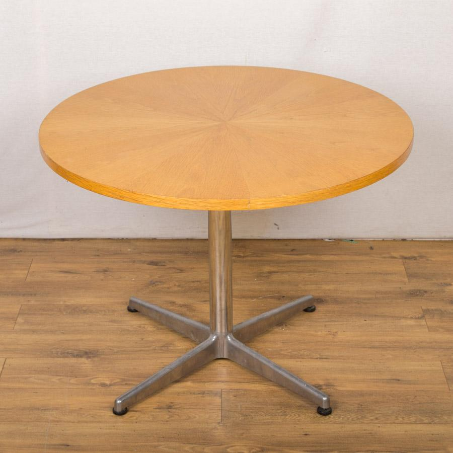 round office table. Starburst Oak Veneer 1000D Round Office Table (RT51) N