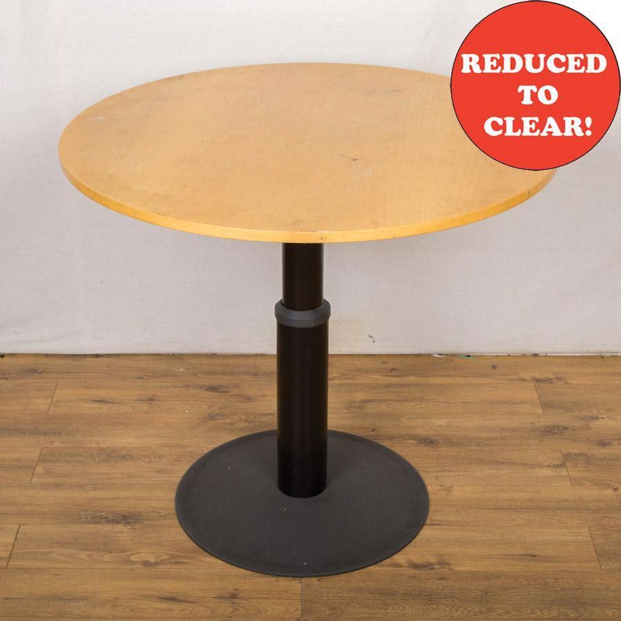 Kinnarps Beech Veneer 1000D Height Adjust Round Table (RT52)