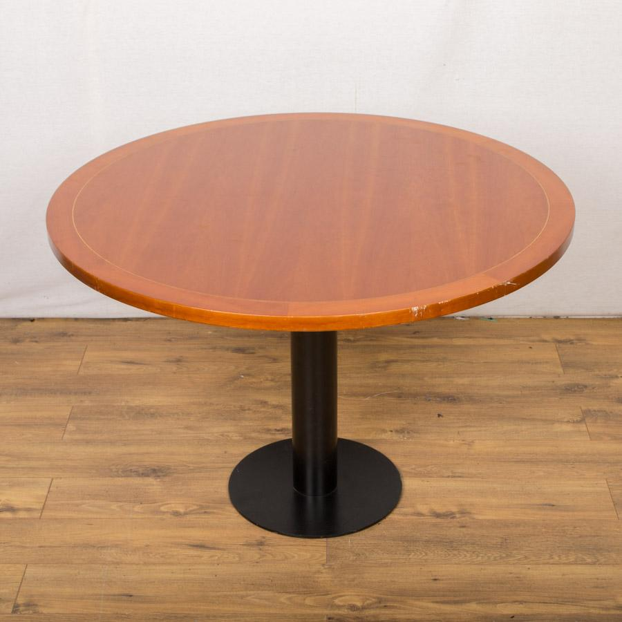 Inlaid Cherry Veneer 1070D Round Office Table (RT53)
