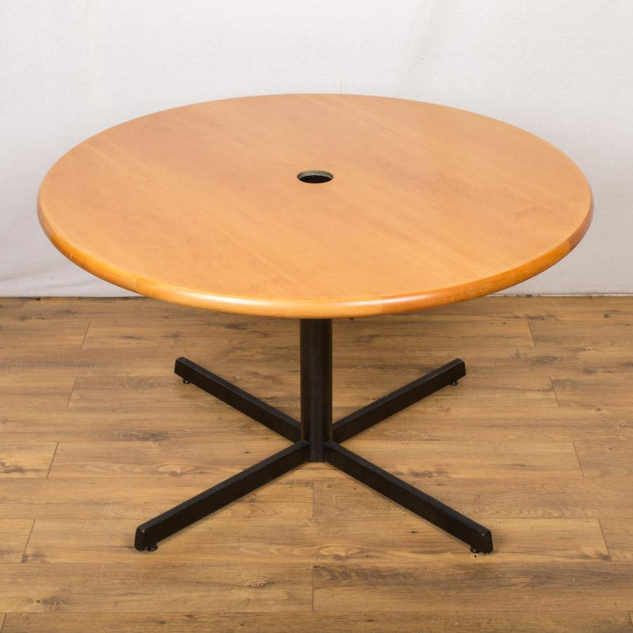Cherry Veneer 1200D Round Office Table (RT56)
