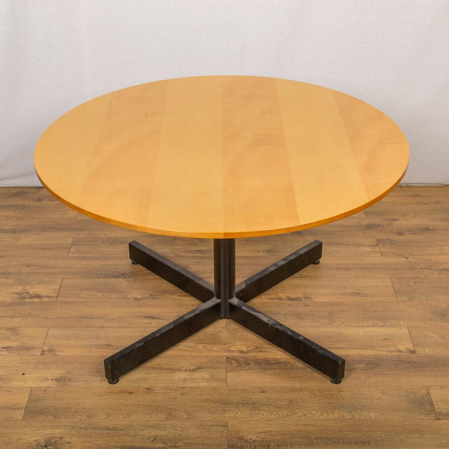 Cherry Veneer 1200D Round Office Table (RT64)